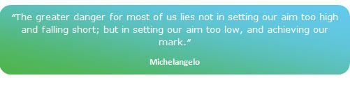 small power michelangelo quote
